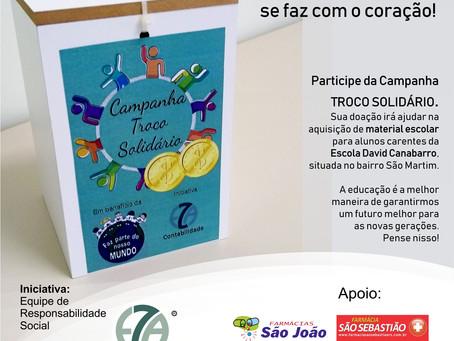 Equipe de responsabilidade social da Eza Contabilidade cria campanha do troco solidário