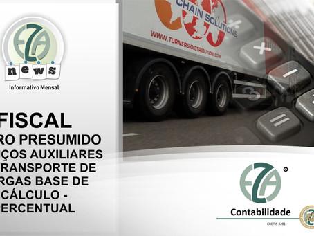 SERVIÇOS AUXILIARES AO TRANSPORTE DE CARGAS BASE DE CÁLCULO - PERCENTUAL