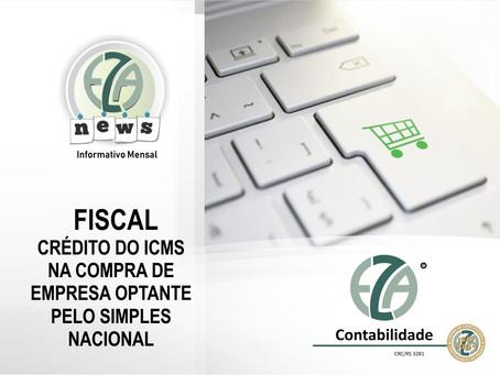 CRÉDITO DO ICMS NA COMPRA DE EMPRESA OPTANTE PELO SIMPLES NACIONAL