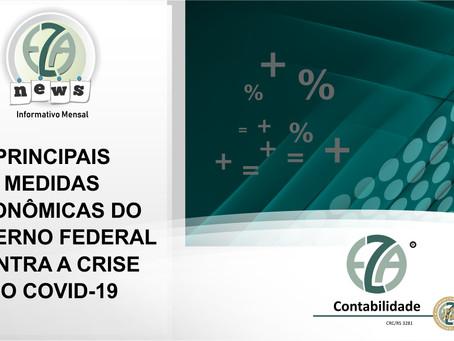 Principais medidas econômicas do Governo Federal  contra a crise do Covid-19