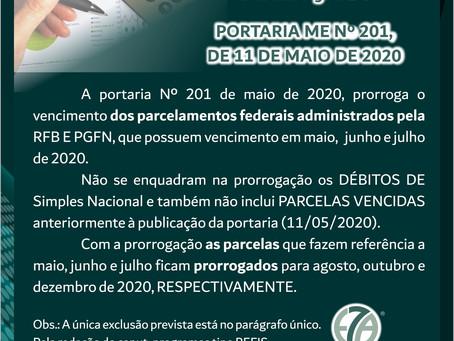 PORTARIA ME Nº 201, DE 11 DE MAIO DE 2020