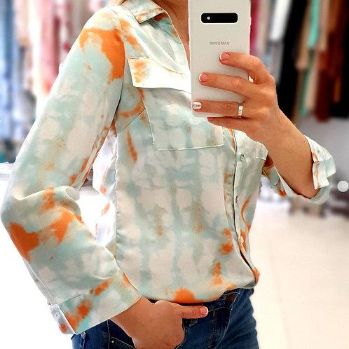 Рубашка,оранж