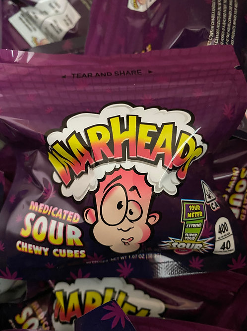 Warheads - Medicated Sour Chewy Cubes