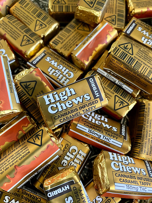 High Chews - 150 MG THC - Caramel Hybrid Chew