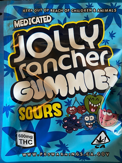 Jolly Rancher Gummy Sours - 300Mg THC