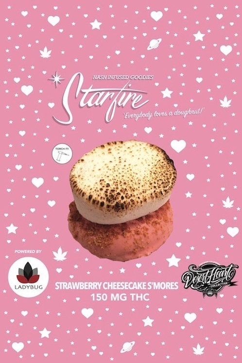 Starfire Edibles  - 150Mg - Strawberry Cheesecake S'mores Donut