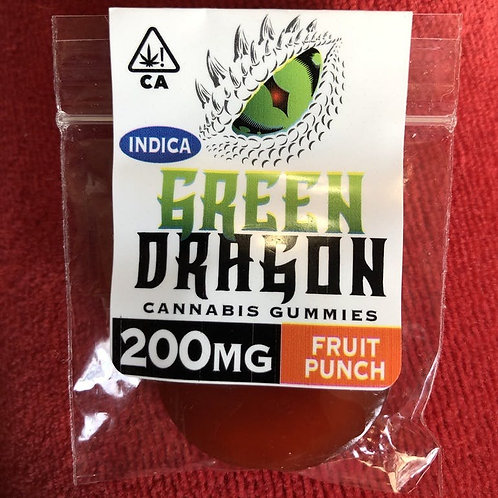 Green Dragon Gummie - Fruit Punch - Indica - 200MG