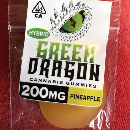 Green Dragon Gummie - Pineapple - Hybrid - 200MG