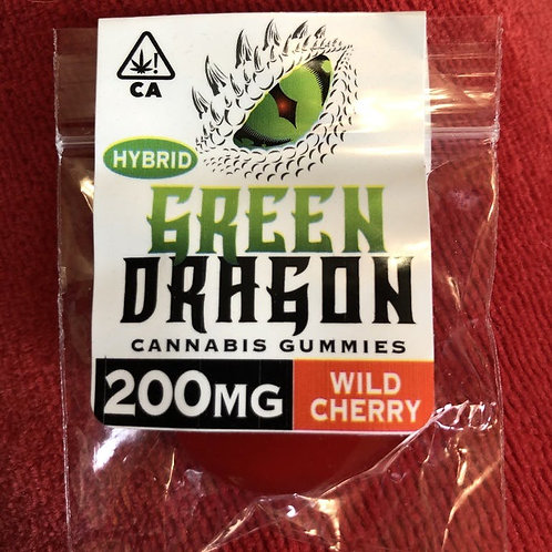 Green Dragon Gummie - Wild Cherry - Hybrid - 200MG