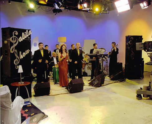 Con Dalila Show en TV Venezuela.JPG