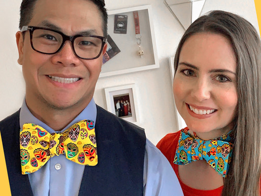 DIY Cotton Bow Tie from a Fat Quarter