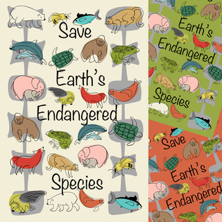Save Endangered Species Tea Towels