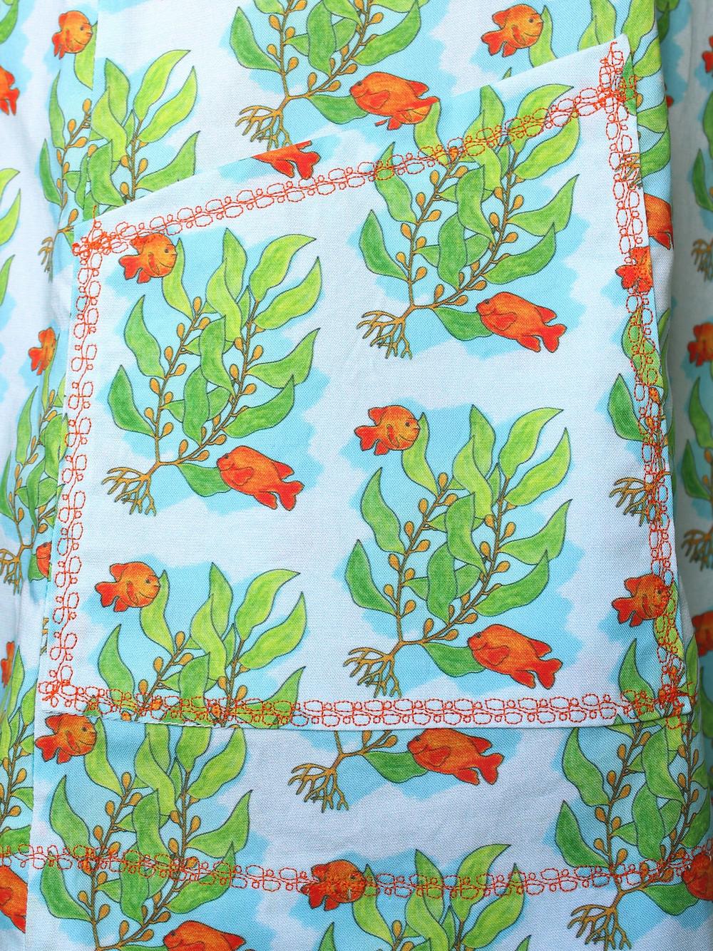 Side front pocket on Sea Kelp and Garibaldi Summer Shift