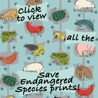 Save Endangered Species Fabric Collection