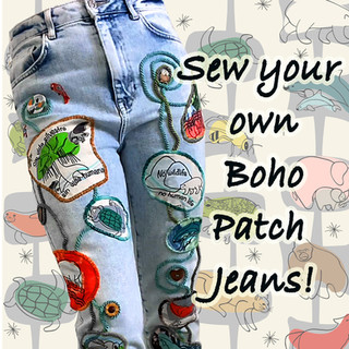 Sew Your Own Boho Patch Jeans!
