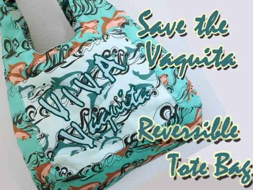 Save the Vaquita Reversible Tote Bag