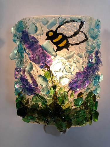 recycled glass night light