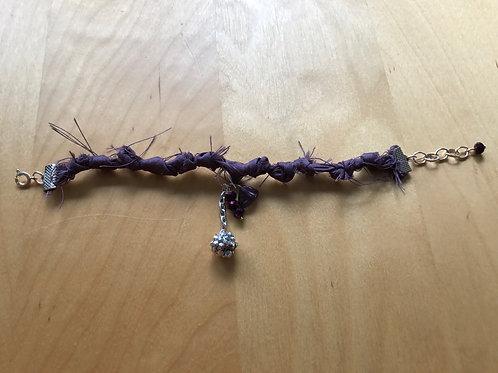 Purple Silk Bohemian Bracelet 10