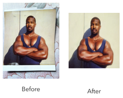 Damaged photo repaired