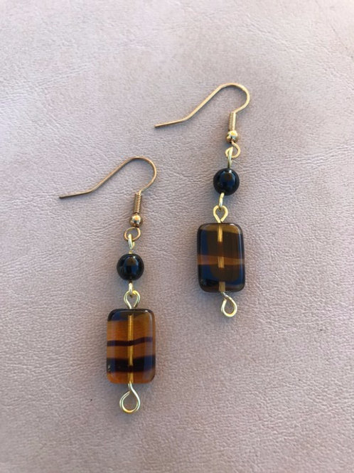 Black and Golden Earrings