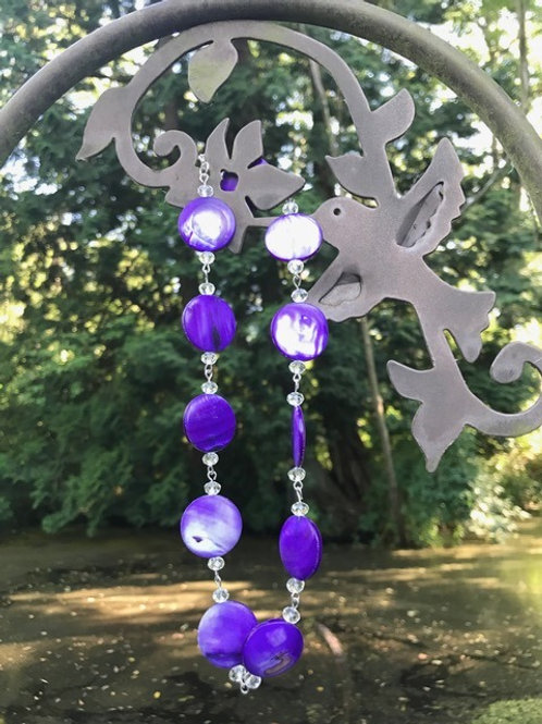 Purple Passion Shell Necklace