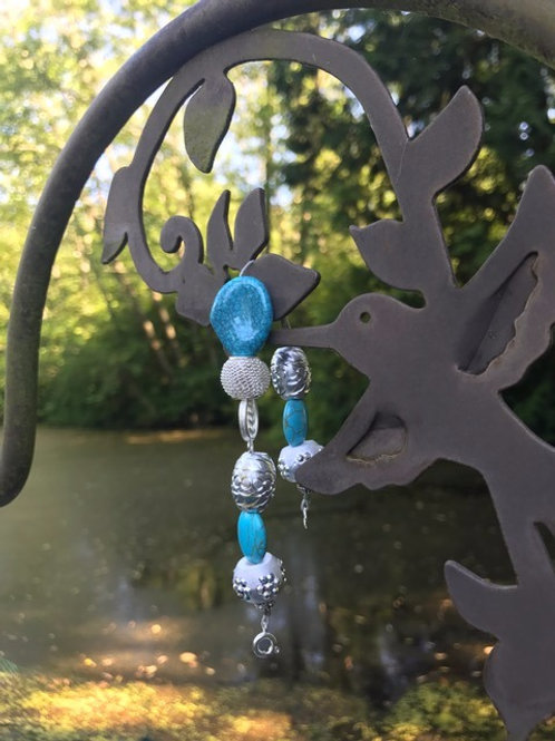 Turquoise and Silver-tone Bracelet