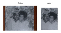 Wayne's parents before and after