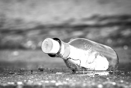 message in a bottle bw.jpg