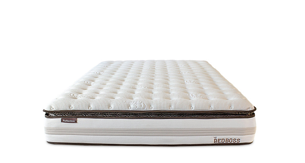reflection pillow top mattress by the bed boss