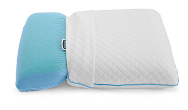 visco elastic memory foam pillow with cool gel for a cooler sleep