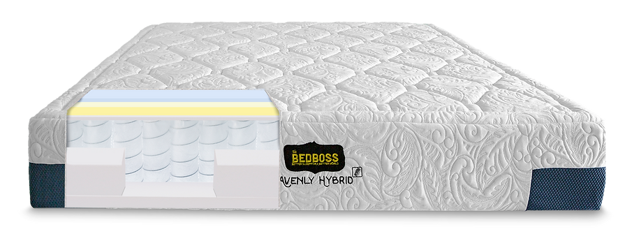 Hybrid mattress with pocketd coils