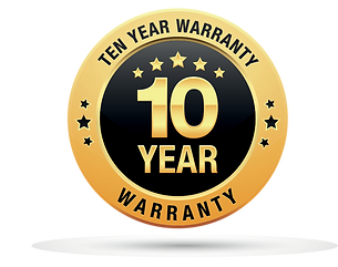 Bed Boss ten year warranty badge