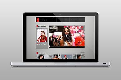 site sur un ordinateur portable