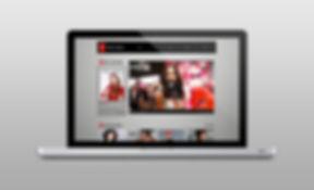 Website on Laptop