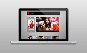 Sito web sul computer portatile