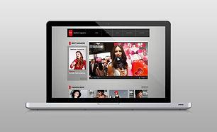 Веб-сайт на ноутбуке