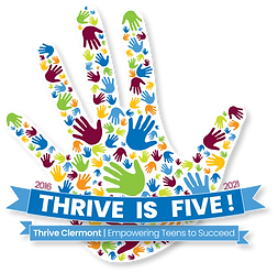 Final Thrive is Five Logo - Shadow and T