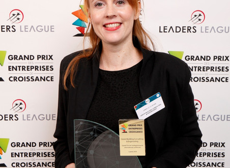 Winner of the Grand Prix de l'entreprenariat International au féminin