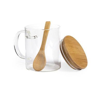 Taza vidrio bamboo