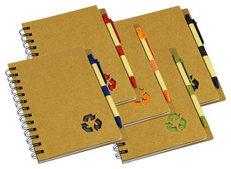 Libretas Cartón reciclado Tapa Dura con Lápiz