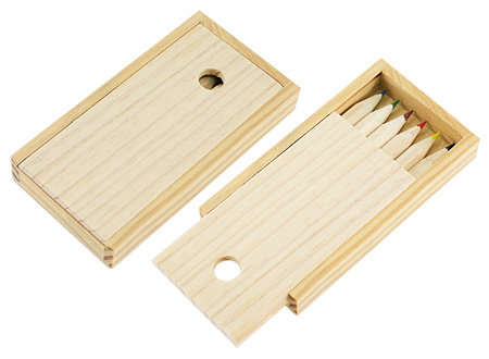Set lápices en estuche madera