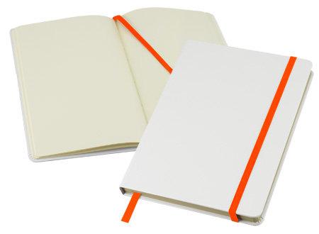 Libretas Blancas Pu 21*14 Elásticos de colores