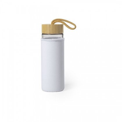 Botella Vidrio y Bamboo con funda