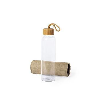 Botella vidrio y yute