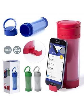 Botella con soporte para Celular