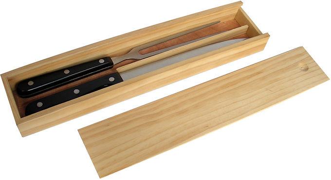 Juego Asado en estuche de madera