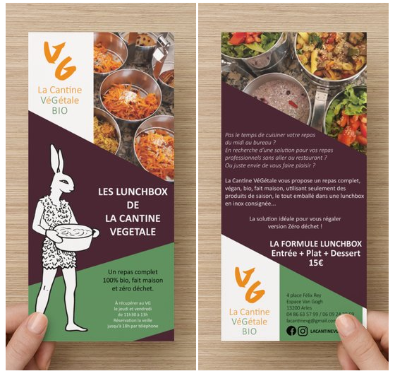 Flyer Lunchbox Création graphique ecocommunication
