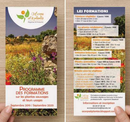 Flyer ecoconception A corps et a plantes, arles, alpilles, Camargue, nature, plantes médicinales