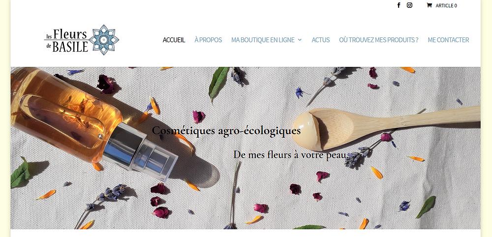 Site web eboutique les Fleurs de Basile www.lesfleursdebasile.com