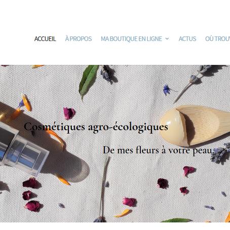Les Fleurs de Basile ont leur nouveau site/boutique en ligne !